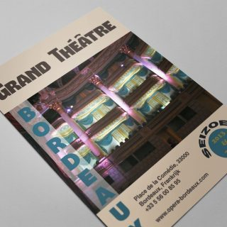 Flyer voor een theater in Bordeaux